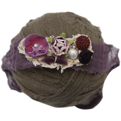 Custom Photo Props Nicole Purples Floral Handmade Newborn Headband