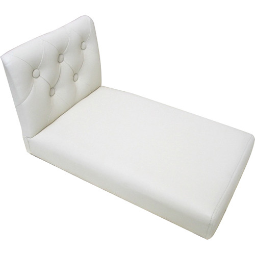Custom Photo Props Upholstered Tufted Newborn Baby Bed Photo Prop (Ivory)