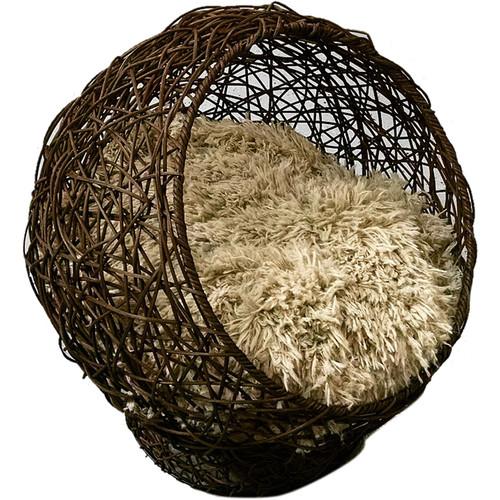 Custom Photo Props Globe to Sleep Newborn Cabana Photo Prop (Dark Brown)