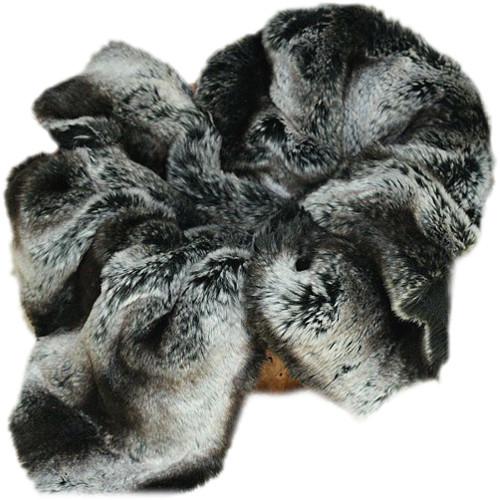 Custom Photo Props Large Black Chinchilla Faux Fur Newborn Photo Prop (3 x 5')