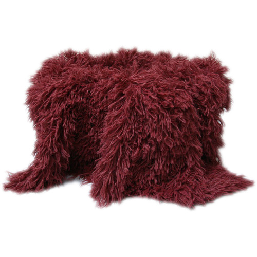 "Custom Photo Props Faux Fur Newborn Photo Prop (Cabernet Baby Whisper, 36 x 62"")"