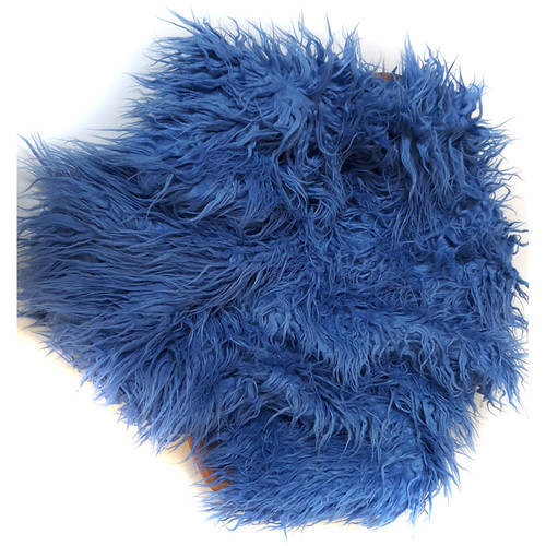 "Custom Photo Props Faux Flokati Fur Newborn Photo Prop (Blueberry, 36 x 62"")"