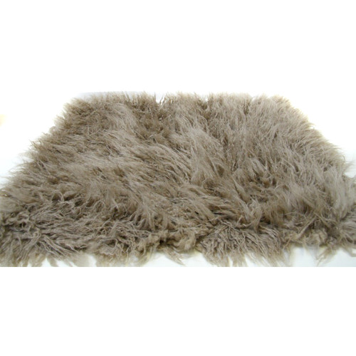 "Custom Photo Props Faux Flokati Fur Newborn Photo Prop (Sand Dune, 20 x 32"")"