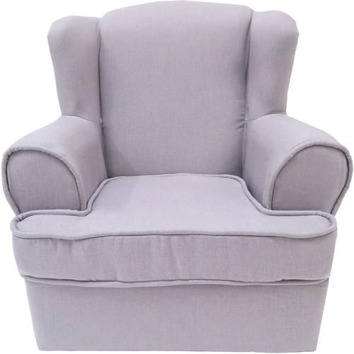 Custom Photo Props Upholstered Linen High-Back Children's Chair (Diana Gray)