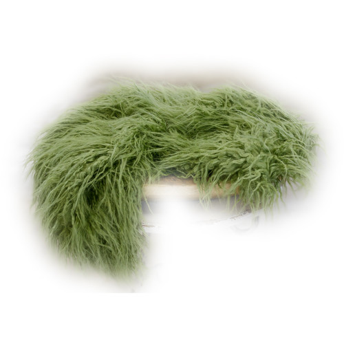 Custom Photo Props Large-Size Vegan Flokati Fur Photo Prop (Moss)