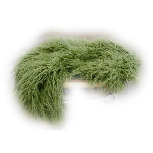 Custom Photo Props Super-Size Vegan Flokati Fur Photo Prop (Moss)