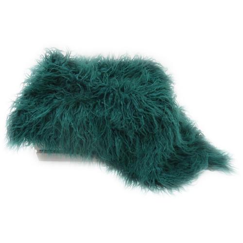 Custom Photo Props Super-Size Vegan Flokati Fur Photo Prop (Emerald)