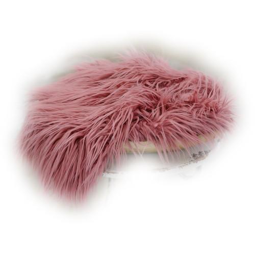 Custom Photo Props Large-Size Vegan Flokati Fur Photo Prop (Rosebud)