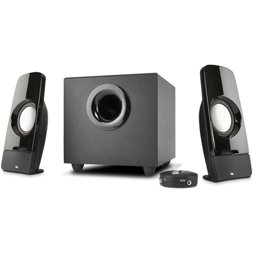 Cyber Acoustics CA-3350 Curve.Storm Speaker System with Control Pod