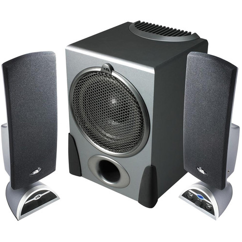 Cyber Acoustics CA-3550 32W 2.1-Channel Multimedia Speaker System (Black)