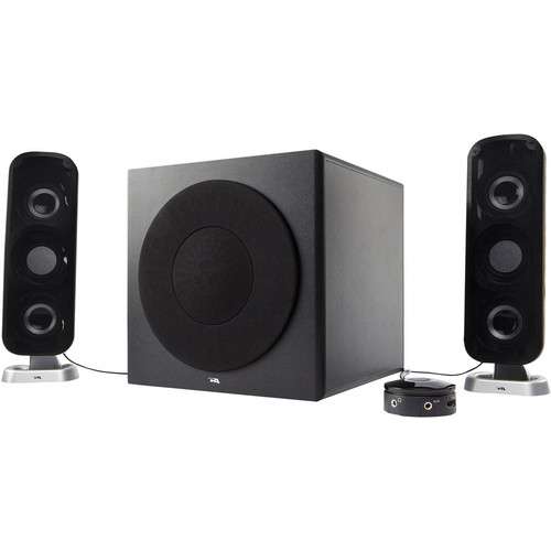 Cyber Acoustics CA-3908 2.1 Channel Powered Speaker System with Control Pod