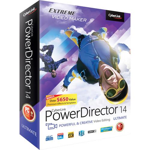 CyberLink PowerDirector 14 Ultimate (Windows, DVD)