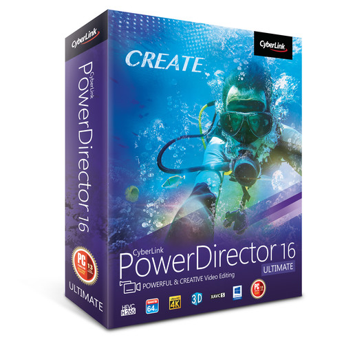 CyberLink PowerDirector 16 Ultimate (DVD)