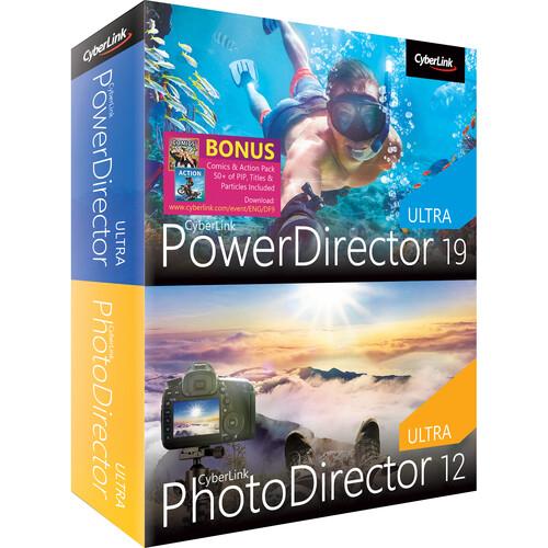 CyberLink PowerDirector 19 Ultra & PhotoDirector 12 Ultra (DVD and Download Code)