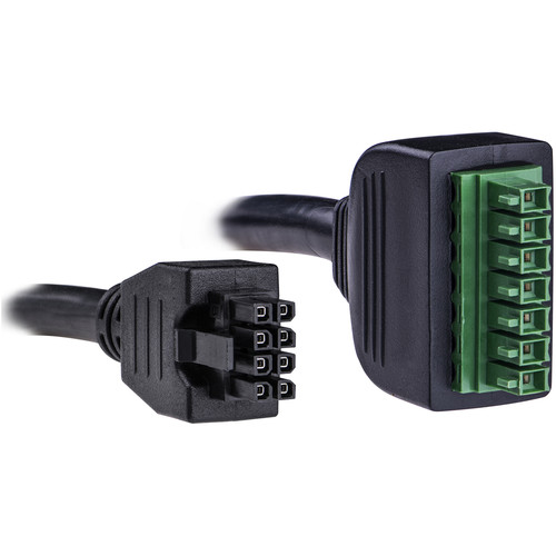 CyberPower 7-Pin Terminal Block to 8-Pin Molex Connecting BBU to ONT, (4', Black)