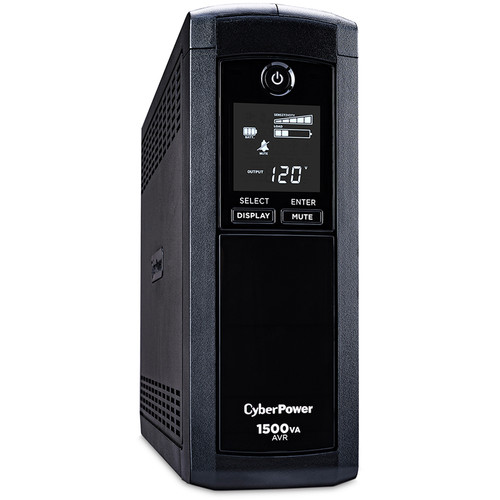 CyberPower Intelligent LCD CP1500AVRLCD Uninterrupted Power Supply