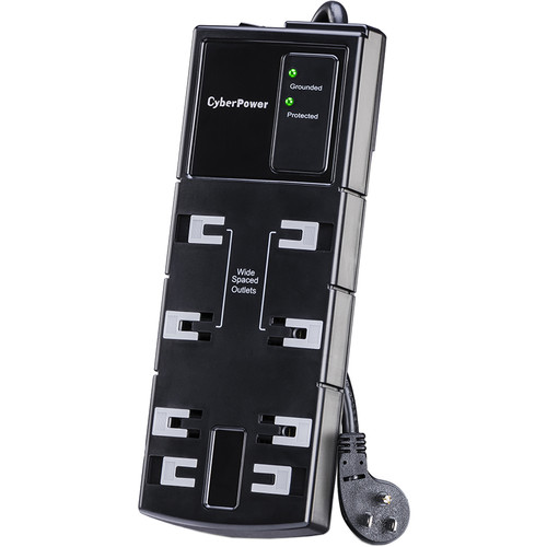 CyberPower CSB806 8-Outlet Essential Series Surge Protector (Black)