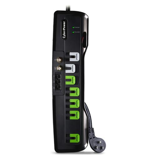 CyberPower 2250 J Surge Suppressor, 125 V, Nema 5-15P 45 Degree Off-Set Plug, 7-Outlet, 6' Cord