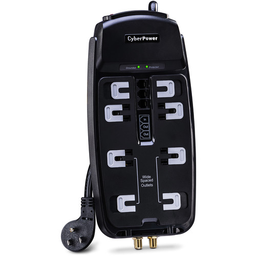 CyberPower 8-Outlet Home Theater Surge Protector