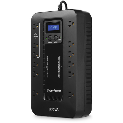 CyberPower EC850LCD Uninterruptible Power Supply and CyberPower CSB404 4-Outlet Surge Protector