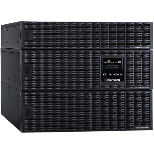 CyberPower Smart App Online Series 8U Rack/Tower Sine Wave Double-Conversion UPS with Maintenance Bypass Switch & Step-Down Transformer (6,000VA / 5,400W)