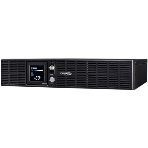 CyberPower 8-Outputs NEMA 5-20R Smart App LCD UPS with USB, Serial and SNMP (2000 VA, 412min Runtime)