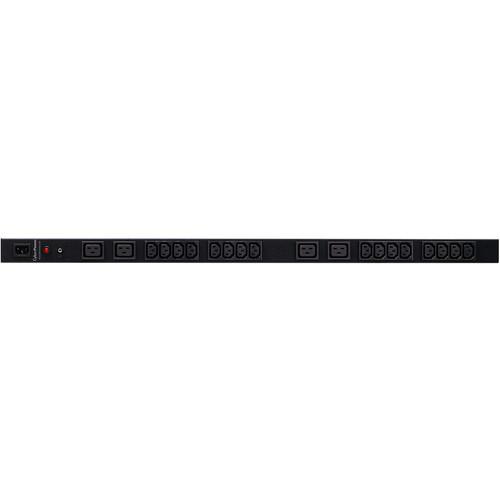 CyberPower PDU(10A)8A/200-230/50/60Hz/IEC-320 C14 Plug,20-IEC Out / Front (16-C13,4-C19) Rackmount OU, 10' Cord