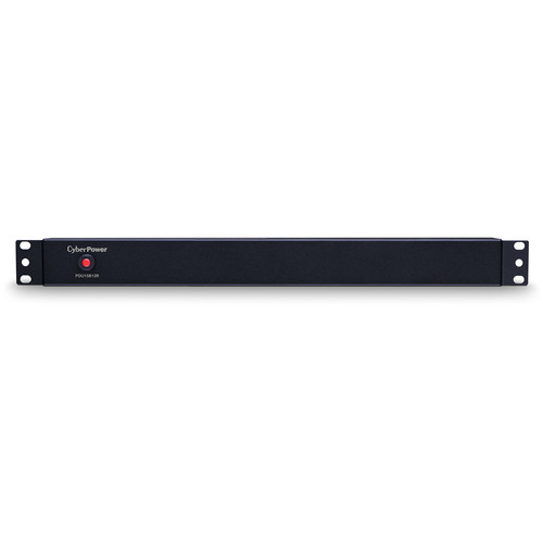 CyberPower (15)12A/100-125V/50/60Hz/PDU/Nema 5-15P Plug/12-RearNema 5-15R OUTS/1U/15'Cord