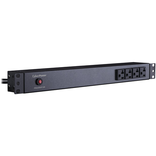 CyberPower PDU (20A)16A/100-125/50/60Hz/Nema 5-20P Plug,14-Out(4-Front/10-Rear)/5-20R, Rackmount 1U,15' Cord