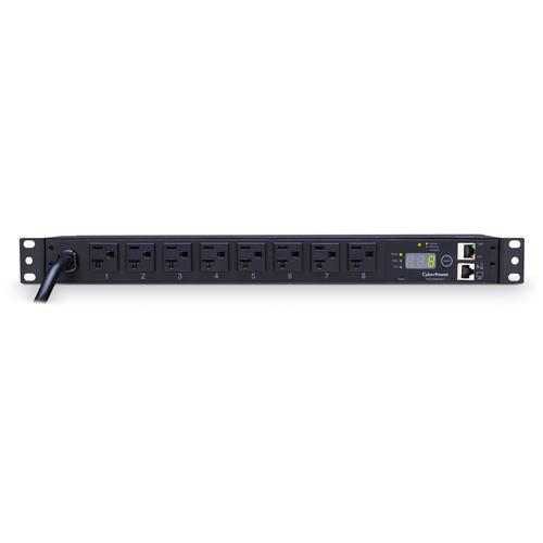 CyberPower Monitored PDU(20)16A/100-120V/8-Nema 5-20R OUTLETS/1U/12'Cord