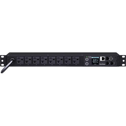 CyberPower Monitored PDU(20)16A/100-120V (8) 5-20P/NEMA (L)5-20R  Outlets /12' Cord/1U
