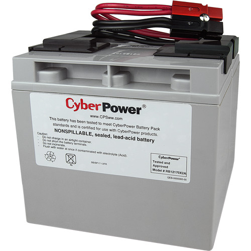 CyberPower Replacement Battery Cartridge for PR1500LCD, 2 Batteries, 12V/72Ah, Sealed Lead-Acid, 18 Month Warra