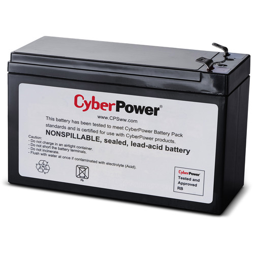 CyberPower Replacement Battery Cartridge for CP-825LCD,-800AVR,-825AVR-G,-825AVRLCD-G,-850AVRLCD, 1 Battery, 12
