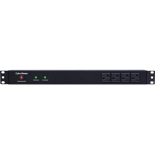 "CyberPower Rackbar Surge Protector:1800 J/120 V/NEMA 5-20P Plug/12 NEMA 5-20R(4 Front,8 Rear)1U/15""Cord"