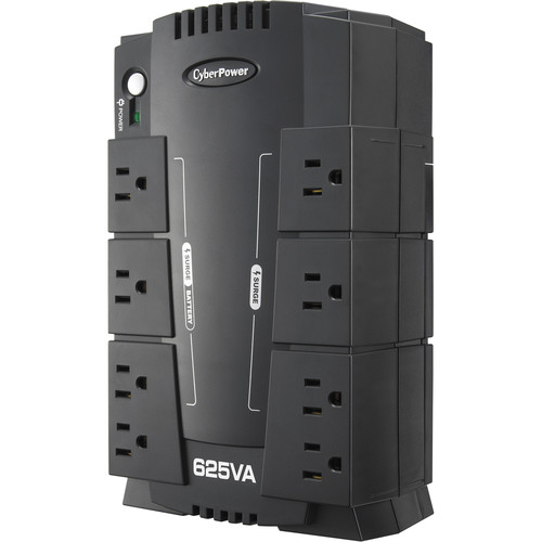 CyberPower SX625G 8-Outlet Surge Protector and Battery Backup UPS (120V) $34.95 at  bhphotovideo.com online deal