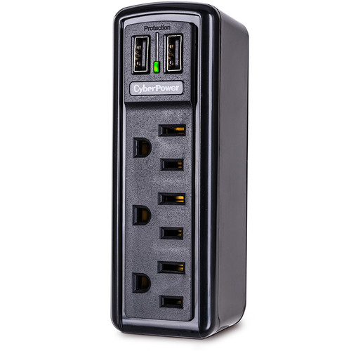 CyberPower Essential 3-Outlet and USB Surge Protector