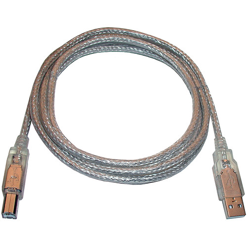 """CyberPower High-Speed USB 2.0 A to B Cable/6'5""""(2m) (Silver with Silver Connectors)"""