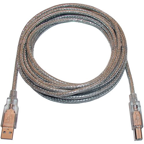 """CyberPower High-Speed USB 2.0 A to B Cable/16'4""""(5m) (Silver with Silver Connectors)"""