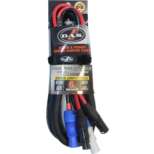 D.A.S Audio Combo Jumper Cable - 14 AWG Power + 16 AWG Audio (6')