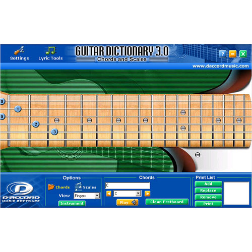 D'Accord Music Software Guitar Chord Dictionary 3.0 (Electronic Download, Windows)