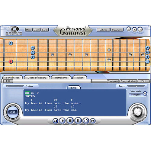 D'Accord Music Software Personal Guitarist 1.2 (Electronic Download, Windows)
