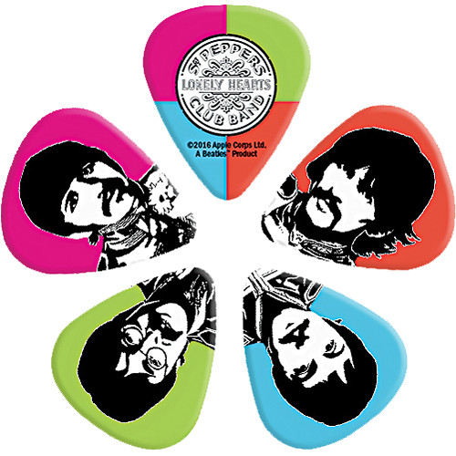 D'Addario 1CWH-610B6 Sgt. Pepper's Lonely Hearts Club Band 50th Anniversary Guitar Picks (Heavy, 10-Pack)
