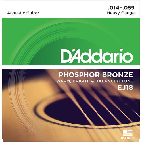D'Addario EJ18 Heavy Phosphor Bronze Acoustic Guitar Strings (6-String Set, 14 - 59)