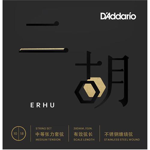 D'Addario ERHU01 Medium Tension Erhu Strings (2-String Set, 10 - 18)