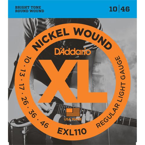 D'Addario EXL110 Regular Light XL Nickel Wound Electric Guitar Strings (6-String Set, 10 - 46)