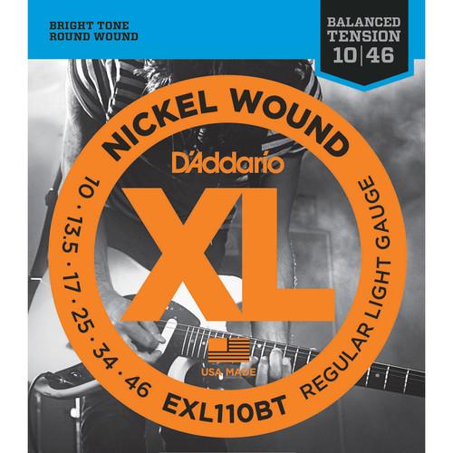 D'Addario EXL110BT Balanced Tension Regular Light XL Nickel Wound Electric Guitar Strings (6-String Set, 10 - 46)