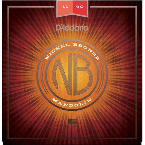 D'Addario NBM1140 Medium-Custom Nickel Bronze Mandolin Strings (8-String Set, 11.5 - 40)