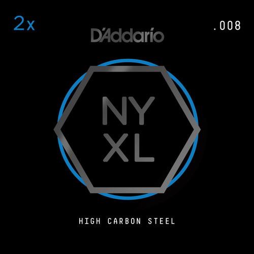 D'Addario NYXL High-Carbon Steel Single String for Electric Guitar (.008)