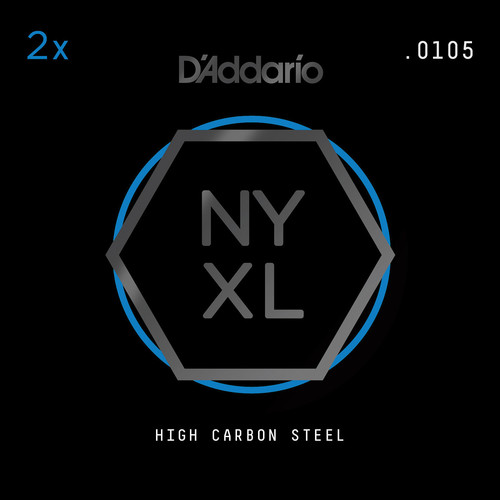 D'Addario NYXL High-Carbon Steel Single String for Electric Guitar (.0105)