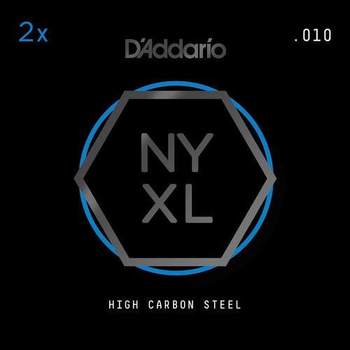 D'Addario NYXL High-Carbon Steel Single String for Electric Guitar (.010)